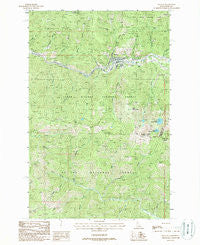 Mullan Idaho Historical topographic map, 1:24000 scale, 7.5 X 7.5 Minute, Year 1988