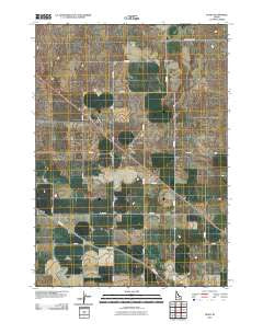 Olsen Idaho Historical topographic map, 1:24000 scale, 7.5 X 7.5 Minute, Year 2010