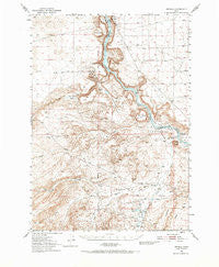 Oreana Idaho Historical topographic map, 1:62500 scale, 15 X 15 Minute, Year 1949