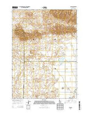 Plano Idaho Current topographic map, 1:24000 scale, 7.5 X 7.5 Minute, Year 2013 from Idaho Maps Store