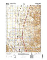 Pocatello North Idaho Current topographic map, 1:24000 scale, 7.5 X 7.5 Minute, Year 2013 from Idaho Maps Store