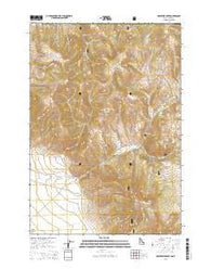 Reservoir Creek Idaho Current topographic map, 1:24000 scale, 7.5 X 7.5 Minute, Year 2014