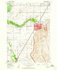 Rexburg Idaho Historical topographic map, 1:24000 scale, 7.5 X 7.5 Minute, Year 1949