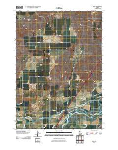 Rose Idaho Historical topographic map, 1:24000 scale, 7.5 X 7.5 Minute, Year 2010