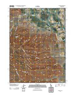 Samaria Idaho Historical topographic map, 1:24000 scale, 7.5 X 7.5 Minute, Year 2011