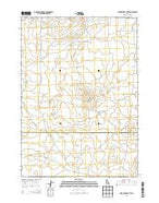 Serviceberry Butte Idaho Current topographic map, 1:24000 scale, 7.5 X 7.5 Minute, Year 2013 from Idaho Map Store