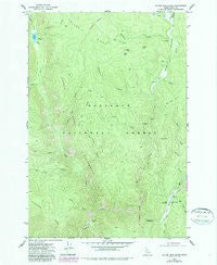 Silver Spur Ridge Idaho Historical topographic map, 1:24000 scale, 7.5 X 7.5 Minute, Year 1977