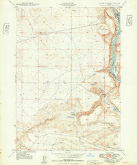 Sinker Butte Idaho Historical topographic map, 1:24000 scale, 7.5 X 7.5 Minute, Year 1949