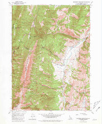 Snowdrift Mountain Idaho Historical topographic map, 1:24000 scale, 7.5 X 7.5 Minute, Year 1949