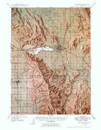 Soda Springs Idaho Historical topographic map, 1:62500 scale, 15 X 15 Minute, Year 1949