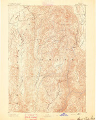 Squaw Creek Idaho Historical topographic map, 1:125000 scale, 30 X 30 Minute, Year 1894