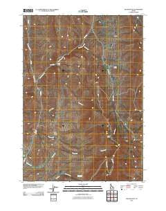 Squaw Butte Idaho Historical topographic map, 1:24000 scale, 7.5 X 7.5 Minute, Year 2010