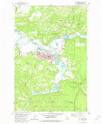 St Maries Idaho Historical topographic map, 1:24000 scale, 7.5 X 7.5 Minute, Year 1981