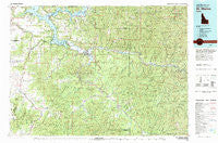 St Maries Idaho Historical topographic map, 1:100000 scale, 30 X 60 Minute, Year 1981