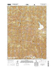 Thompson Creek Idaho Current topographic map, 1:24000 scale, 7.5 X 7.5 Minute, Year 2013 from Idaho Maps Store