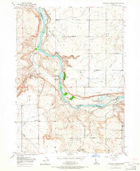 Thousand Springs Idaho Historical topographic map, 1:24000 scale, 7.5 X 7.5 Minute, Year 1949