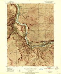 Thousand Springs Idaho Historical topographic map, 1:24000 scale, 7.5 X 7.5 Minute, Year 1954
