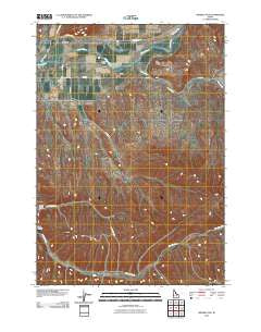 Weiser Cove Idaho Historical topographic map, 1:24000 scale, 7.5 X 7.5 Minute, Year 2010