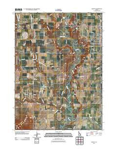 Weston Idaho Historical topographic map, 1:24000 scale, 7.5 X 7.5 Minute, Year 2011