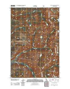 White Sand Lake Idaho Historical topographic map, 1:24000 scale, 7.5 X 7.5 Minute, Year 2011