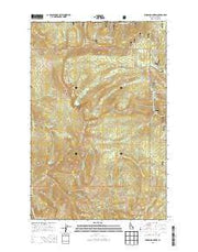 Widow Mountain Idaho Current topographic map, 1:24000 scale, 7.5 X 7.5 Minute, Year 2013 from Idaho Maps Store