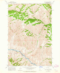Wolf Creek Idaho Historical topographic map, 1:24000 scale, 7.5 X 7.5 Minute, Year 1963