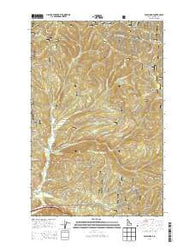 Wolf Lodge Idaho Current topographic map, 1:24000 scale, 7.5 X 7.5 Minute, Year 2014