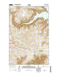 Worley Idaho Current topographic map, 1:24000 scale, 7.5 X 7.5 Minute, Year 2014