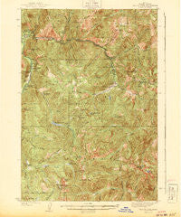 Yellow Pine Idaho Historical topographic map, 1:62500 scale, 15 X 15 Minute, Year 1943