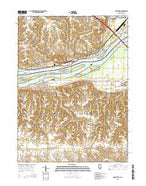 Andalusia Illinois Current topographic map, 1:24000 scale, 7.5 X 7.5 Minute, Year 2015 from Illinois Map Store