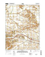 Annawan Illinois Current topographic map, 1:24000 scale, 7.5 X 7.5 Minute, Year 2015 from Illinois Map Store