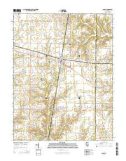 Ashley Illinois Current topographic map, 1:24000 scale, 7.5 X 7.5 Minute, Year 2015 from Illinois Maps Store