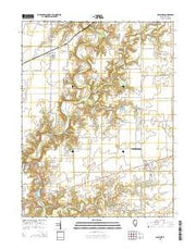Ashmore Illinois Current topographic map, 1:24000 scale, 7.5 X 7.5 Minute, Year 2015 from Illinois Maps Store