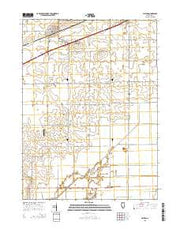 Ashton Illinois Current topographic map, 1:24000 scale, 7.5 X 7.5 Minute, Year 2015 from Illinois Maps Store