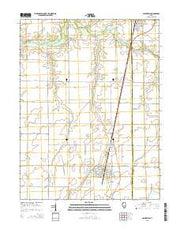 Assumption Illinois Current topographic map, 1:24000 scale, 7.5 X 7.5 Minute, Year 2015 from Illinois Maps Store