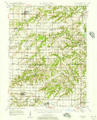 Augusta Illinois Historical topographic map, 1:62500 scale, 15 X 15 Minute, Year 1946