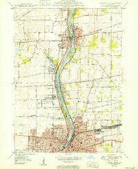 Aurora North Illinois Historical topographic map, 1:24000 scale, 7.5 X 7.5 Minute, Year 1950