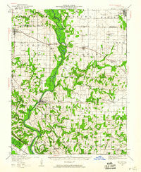 Baldwin Illinois Historical topographic map, 1:62500 scale, 15 X 15 Minute, Year 1942