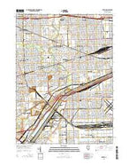 Berwyn Illinois Current topographic map, 1:24000 scale, 7.5 X 7.5 Minute, Year 2015 from Illinois Map Store