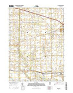Big Rock Illinois Current topographic map, 1:24000 scale, 7.5 X 7.5 Minute, Year 2015 from Illinois Map Store