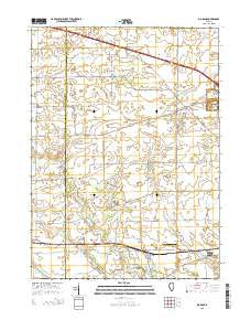 Big Rock Illinois Current topographic map, 1:24000 scale, 7.5 X 7.5 Minute, Year 2015