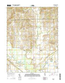 Birds Illinois Current topographic map, 1:24000 scale, 7.5 X 7.5 Minute, Year 2015
