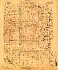 Birds Illinois Historical topographic map, 1:62500 scale, 15 X 15 Minute, Year 1917