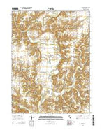 Blyton Illinois Current topographic map, 1:24000 scale, 7.5 X 7.5 Minute, Year 2015 from Illinois Map Store