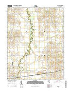 Bone Gap Illinois Current topographic map, 1:24000 scale, 7.5 X 7.5 Minute, Year 2015 from Illinois Map Store