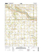 Bonfield Illinois Current topographic map, 1:24000 scale, 7.5 X 7.5 Minute, Year 2015 from Illinois Map Store
