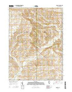 Brookville Illinois Current topographic map, 1:24000 scale, 7.5 X 7.5 Minute, Year 2015 from Illinois Map Store