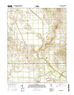 Broughton Illinois Current topographic map, 1:24000 scale, 7.5 X 7.5 Minute, Year 2015 from Illinois Map Store