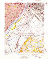 Cahokia Illinois Historical topographic map, 1:24000 scale, 7.5 X 7.5 Minute, Year 1949