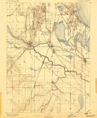 Calumet Illinois Historical topographic map, 1:62500 scale, 15 X 15 Minute, Year 1892